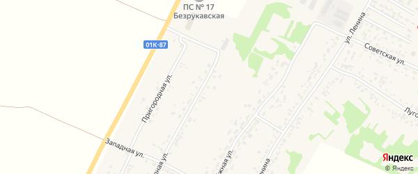 Степная улица на карте садового некоммерческого товарищества N 3 с номерами домов
