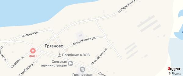 Молодёжная улица на карте села Грязново с номерами домов