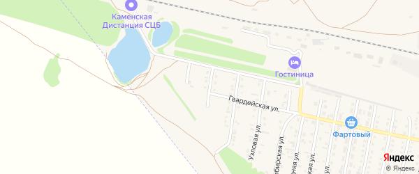 Линейная улица на карте Камня-на-Оби с номерами домов