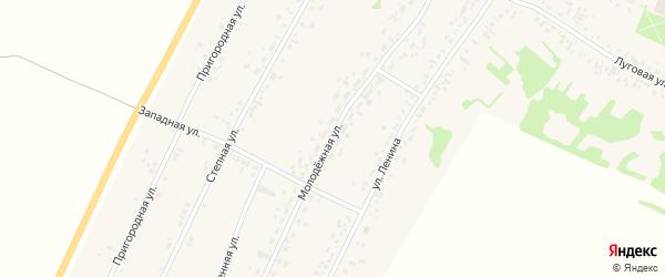 Молодежная улица на карте села Безрукавки с номерами домов