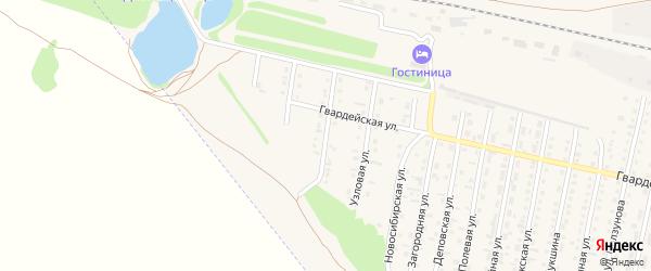 Локомотивная улица на карте Камня-на-Оби с номерами домов