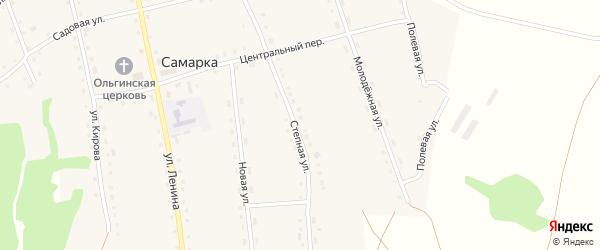 Степная улица на карте разъезда Зарницы с номерами домов