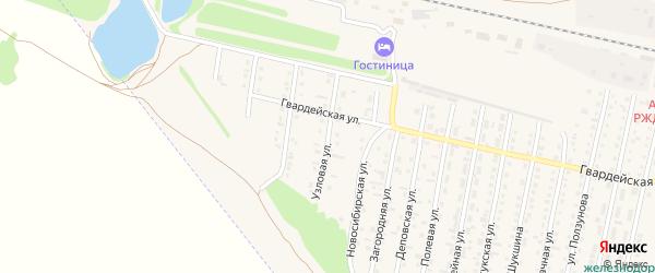 Узловая улица на карте Камня-на-Оби с номерами домов
