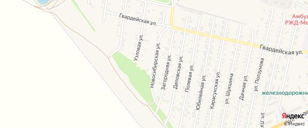 Новосибирская улица на карте Камня-на-Оби с номерами домов