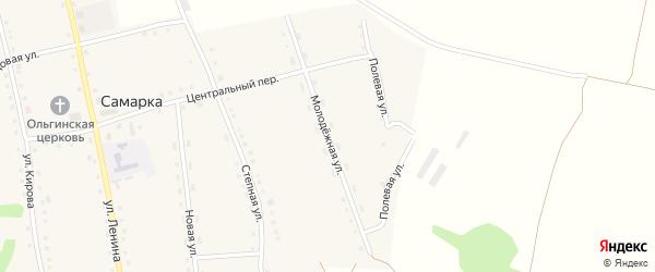 Молодежная улица на карте села Самарки с номерами домов
