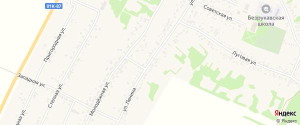 Улица Ленина на карте села Безрукавки с номерами домов