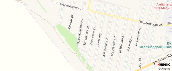 Загородняя улица на карте Камня-на-Оби с номерами домов