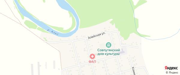 Алейская улица на карте села Советского Пути с номерами домов