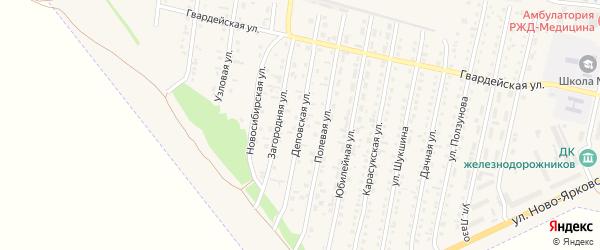 Деповская улица на карте Камня-на-Оби с номерами домов