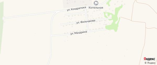 Улица Маздрина на карте Камня-на-Оби с номерами домов