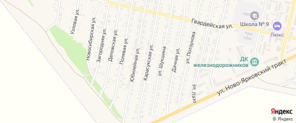 Карасукская улица на карте Камня-на-Оби с номерами домов