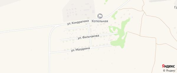 Улица Фильчакова на карте Камня-на-Оби с номерами домов