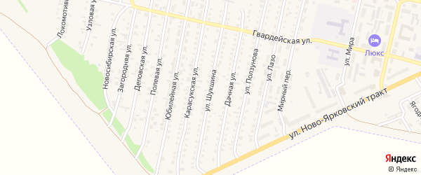 Улица Шукшина на карте Камня-на-Оби с номерами домов