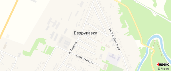 Улица Безрукавка на карте села Безрукавки с номерами домов