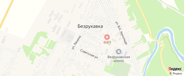 Центральная улица на карте села Безрукавки с номерами домов