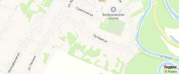 Луговая улица на карте садового некоммерческого товарищества N 18 с номерами домов