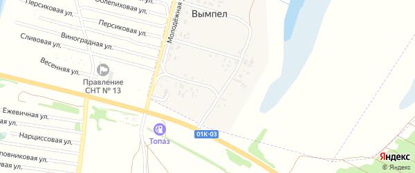 Машзаводская улица на карте поселка Вымпела с номерами домов