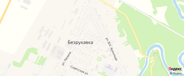 Садовая улица на карте села Безрукавки с номерами домов
