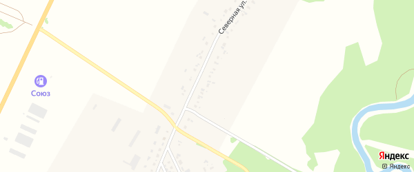 Северная улица на карте садового некоммерческого товарищества N 18 с номерами домов
