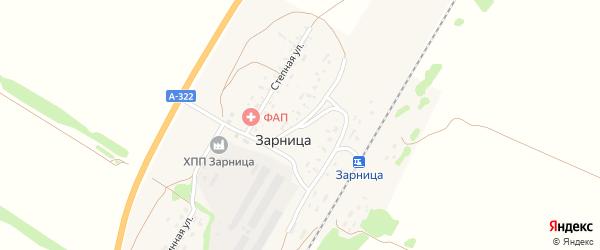 Революционная улица на карте разъезда Зарницы с номерами домов
