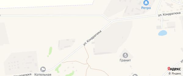 Улица Кондратюка на карте Камня-на-Оби с номерами домов