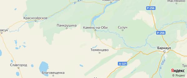 Карта Каменского района Алтайского края с городами и населенными пунктами