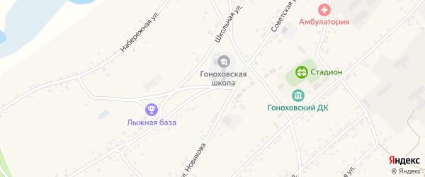 Советская улица на карте села Гонохово с номерами домов