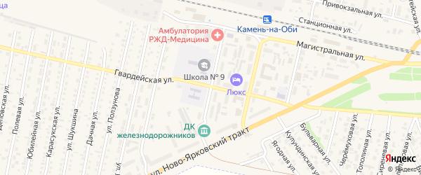 Улица Мира на карте Камня-на-Оби с номерами домов