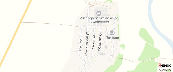 Геологическая улица на карте села Безрукавки с номерами домов