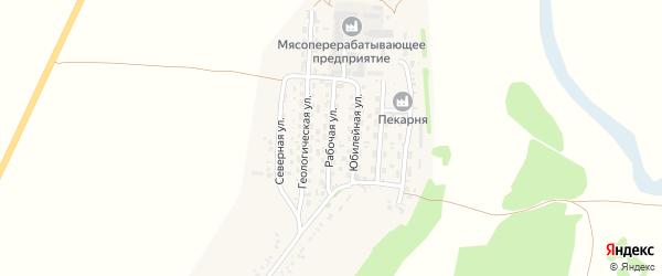 Рабочая улица на карте села Безрукавки с номерами домов