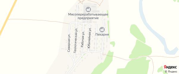 Юбилейная улица на карте села Безрукавки с номерами домов