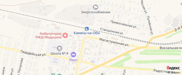 Магистральная улица на карте Камня-на-Оби с номерами домов
