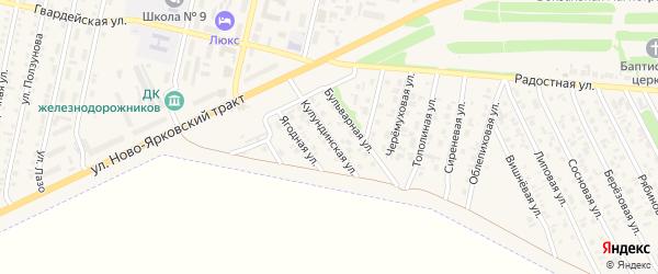 Кулундинская улица на карте Камня-на-Оби с номерами домов