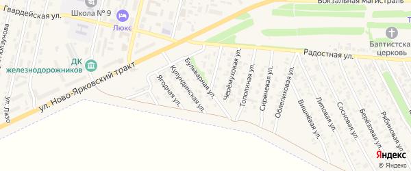 Бульварная улица на карте Камня-на-Оби с номерами домов