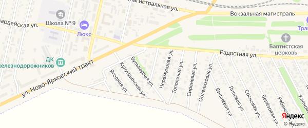 Юго-Западная улица на карте Камня-на-Оби с номерами домов