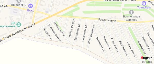 Тополиная улица на карте Камня-на-Оби с номерами домов