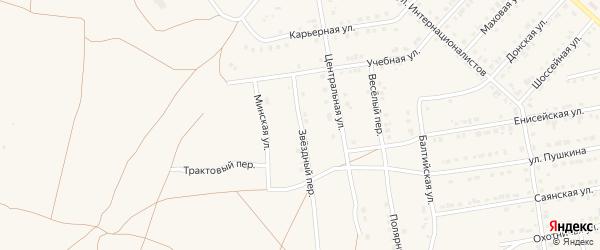 Звёздный переулок на карте Камня-на-Оби с номерами домов
