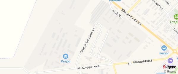 Северо-Западная улица на карте Камня-на-Оби с номерами домов