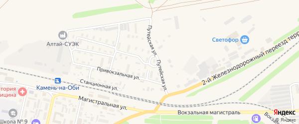 Путейская улица на карте Камня-на-Оби с номерами домов