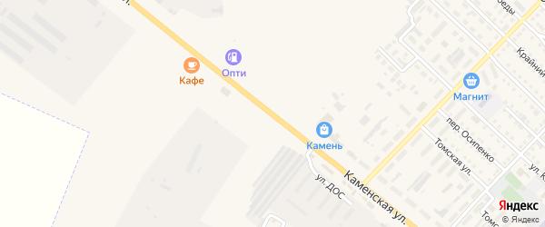 Каменская улица на карте Камня-на-Оби с номерами домов