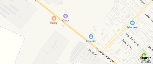 Каменская улица на карте Подветренно-Телеутского села с номерами домов