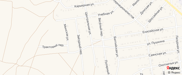 Центральная улица на карте Камня-на-Оби с номерами домов