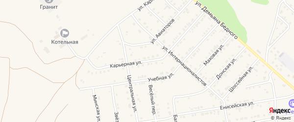 Карьерная улица на карте Камня-на-Оби с номерами домов