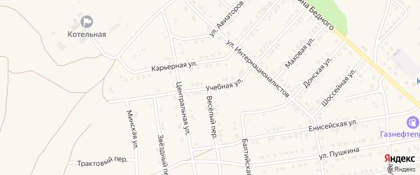 Учебная улица на карте Камня-на-Оби с номерами домов