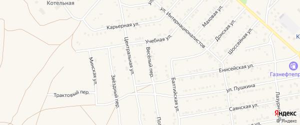 Веселый переулок на карте Камня-на-Оби с номерами домов