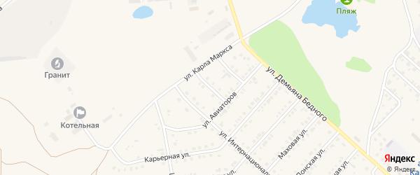 Тихая улица на карте Камня-на-Оби с номерами домов