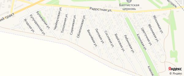 Вишневая улица на карте Камня-на-Оби с номерами домов
