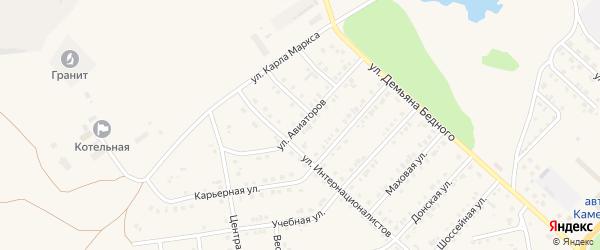 Улица Авиаторов на карте Камня-на-Оби с номерами домов