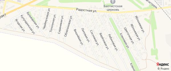 Липовая улица на карте Камня-на-Оби с номерами домов