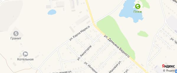 Ковыльная улица на карте Камня-на-Оби с номерами домов